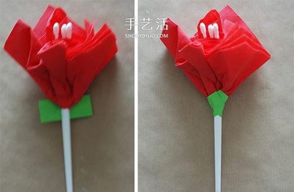 简单又漂亮餐巾纸花的做法 -  www.shouyihuo.com