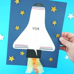 卡纸手工制作航天飞机图解教程