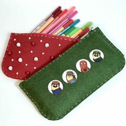自制毛毡笔袋/化妆包/钱包的方法图解