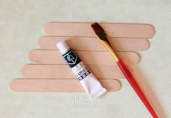 雪糕棍手工制作相框图解教程 -  www.shouyihuo.com