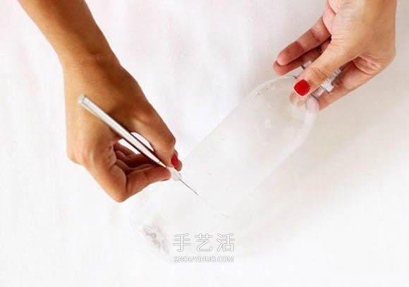 矿泉水瓶手工制作小清新牙签筒的教程 -  www.shouyihuo.com