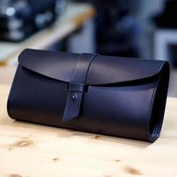 自制简约皮革手拿包的方法图解教程