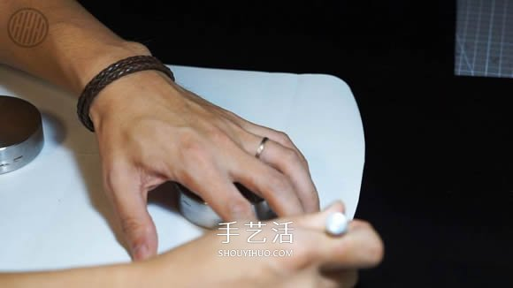 自制简约皮革手拿包的方法图解教程 -  www.shouyihuo.com