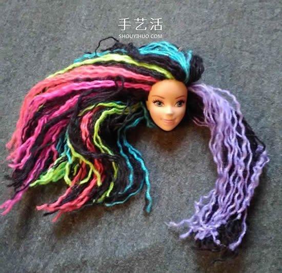 时尚新潮的芭比娃娃彩虹发型DIY -  www.shouyihuo.com