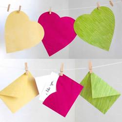 用心形纸张折纸情人节信封的方法图解