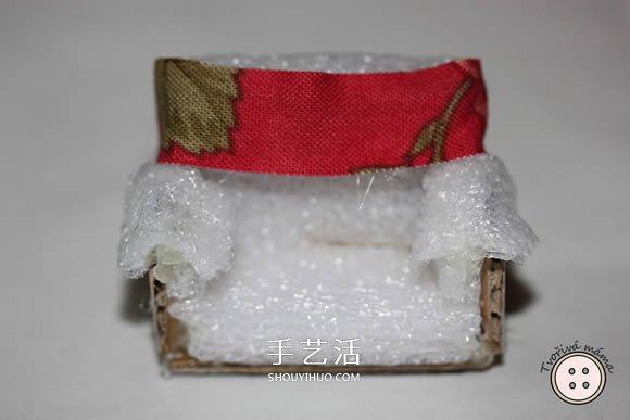 瓦楞纸板手工制作微型扶手椅图解教程 -  www.shouyihuo.com