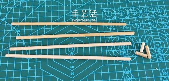 一次性筷子手工制作置物碟图解教程 -  www.shouyihuo.com