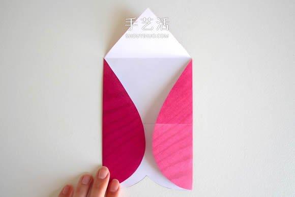 用心形纸张折纸情人节信封的方法图解 -  www.shouyihuo.com