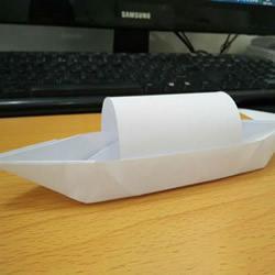 折纸乌篷船的方法图解教程
