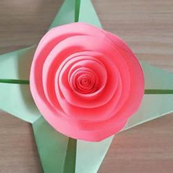 简单又漂亮纸玫瑰花的做法图解