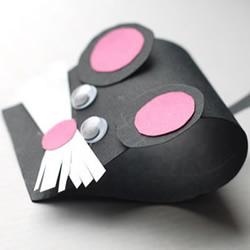卡纸手工制作可爱小老鼠图解教程