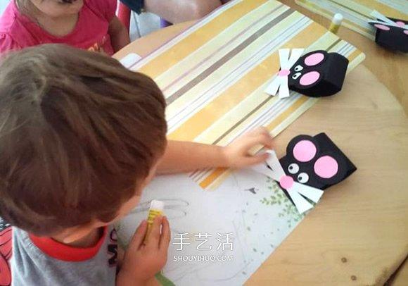 卡紙手工製作可愛小老鼠圖解教程