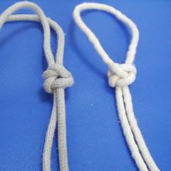 两股绳水手结的打法图解