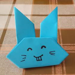 简单又可爱小兔子的折法图解