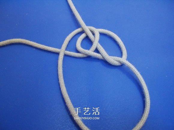 两股绳水手结的打法图解 -  www.shouyihuo.com