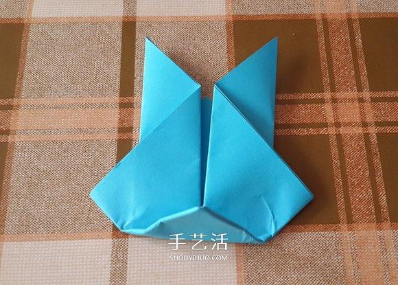 简单又可爱小兔子的折法图解 -  www.shouyihuo.com