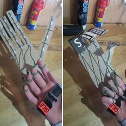 自制可以操控的纸板手的方法教程