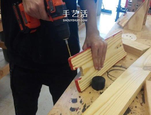 用木头DIY制作儿童滑板车的方法教程 -  www.shouyihuo.com