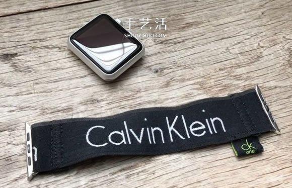 内衣松紧带制作苹果手表表带的教程 -  www.shouyihuo.com