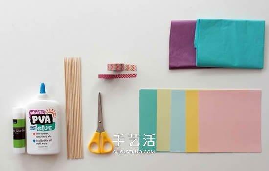 簡單的絹紙花手工製作圖解教程