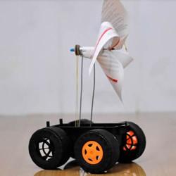 自制风力驱动玩具车的制作教程