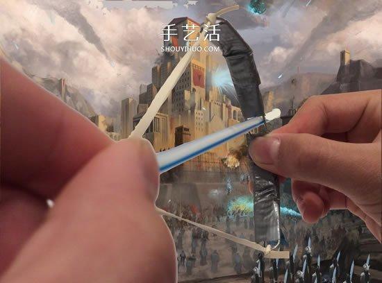 自製迷你回形針弓的方法圖解教程