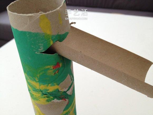 卷纸筒手工制作滚弹珠玩具的教程 -  www.shouyihuo.com