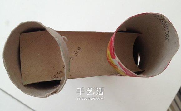 捲紙筒手工製作滾彈珠玩具的教程