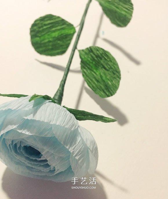 简单又漂亮的皱纹纸洋牡丹做法图解 -  www.shouyihuo.com