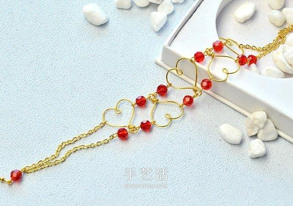 DIY情人节爱心手链的方法步骤图解 -  www.shouyihuo.com