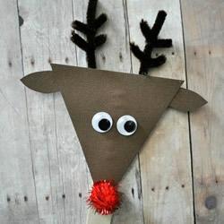 幼儿园手工制作圣诞驯鹿的教程