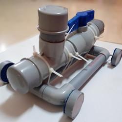 PVC管手工制作小苏打动力玩具车的教程
