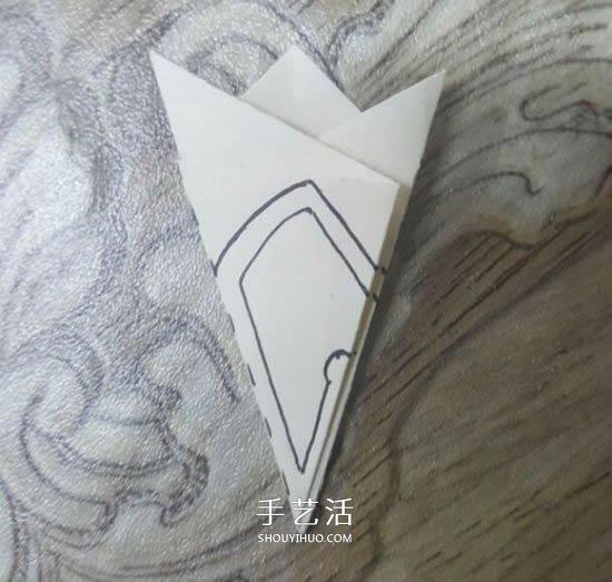 剪纸樱花的折法和剪纸图案 -  www.shouyihuo.com