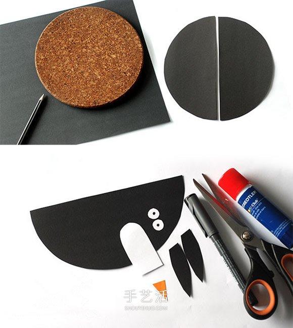 卡纸手工制作立体企鹅的图解教程 -  www.shouyihuo.com
