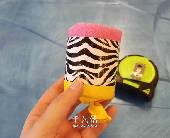 幼兒手工自製彈射玩具的方法教程