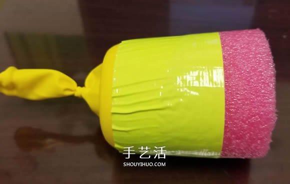 幼儿手工自制弹射玩具的方法教程 -  www.shouyihuo.com