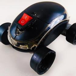旧鼠标手工制作电动玩具车的教程