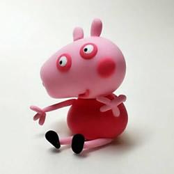 超轻粘土手工制作粉红小猪佩奇图解教程