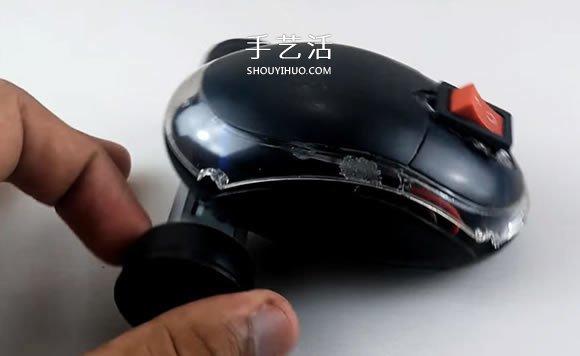 舊鼠標手工製作電動玩具車的教程