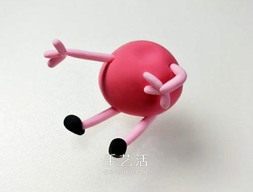 超輕粘土手工製作粉紅小豬佩奇圖解教程