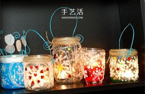 玻璃瓶手工製作雪花許願瓶圖解教程