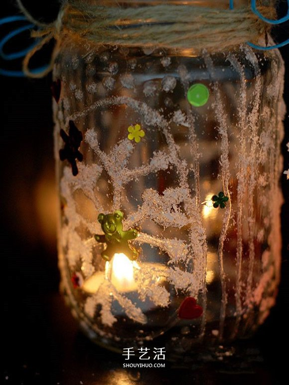 玻璃瓶手工制作雪花许愿瓶图解教程 -  www.shouyihuo.com