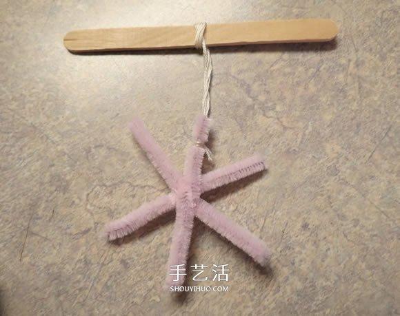 自制圣诞节晶体雪花装饰品的方法教程 -  www.shouyihuo.com