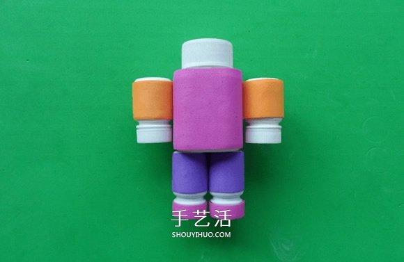 简单自制药瓶机器人的方法教程 -  www.shouyihuo.com