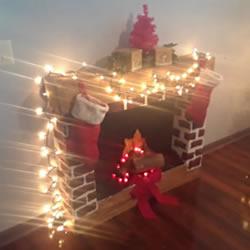 自制圣诞节人造壁炉的方法教程