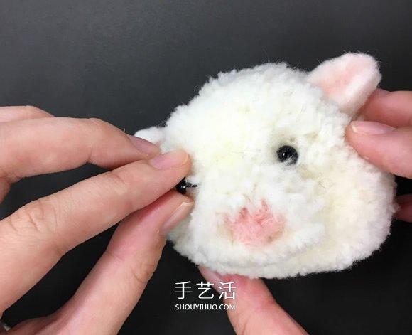 自制毛线球动物胸针的方法教程 -  www.shouyihuo.com