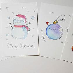 4种简单又可爱的手绘圣诞贺卡制作方法