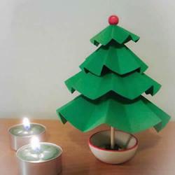 卡纸手工制作立体圣诞树的做法图解