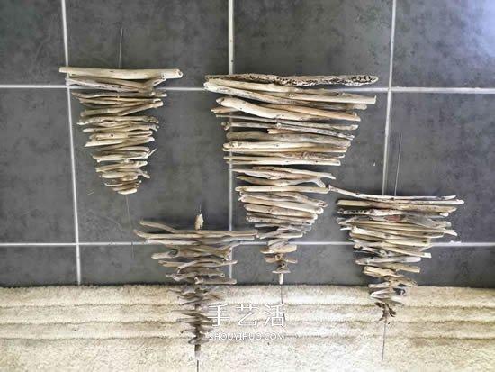 废物利用DIY立体圣诞树的简单教程 -  www.shouyihuo.com