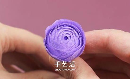 皺紋紙手工製作超美玫瑰花圖解